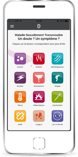 Application MST Risk sur un iPhone